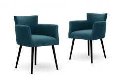 Stoel Billie Set van 2 | Turquoise