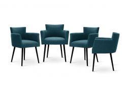 Chaises Billie Set de 4 | Turquoise