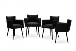 Chaises Billie Set de 4 | Noir
