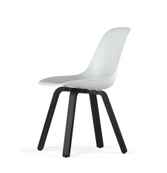 U Base V9 Side Chair | Stained Oak Black