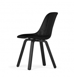U Base W9 Side Chair | Dark Beech