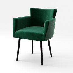 Lehnstuhl Billie Samt-Touch | Grün