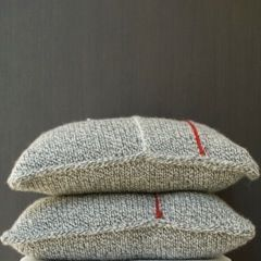 Cushion Tricot White/Grey