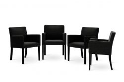 Chaise Escape Set de 4 | Noir