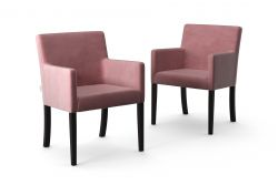 Set de 2 Chaises Escape Velours | Lilas