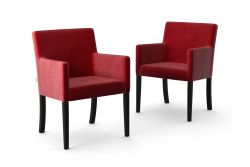 Set de 2 Chaises Escape Velours | Rouge