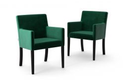 Set de 2 Chaises Escape Velours | Vert