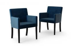 Set de 2 Chaises Escape Velours | Bleu Marine