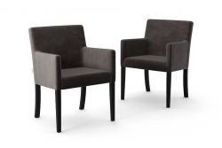 Set de 2 Chaises Escape Velours | Anthracite