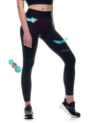 Sport Legging Transparent | Schwarz