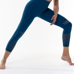 Sport Legging Shima | Benzinblau
