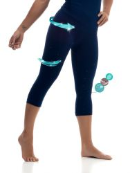 Sport Legging Capri | Marineblau