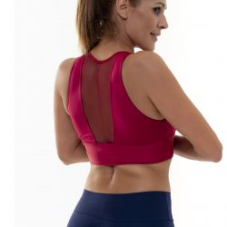 Crop Top Sport Transparentes Heck | Rot