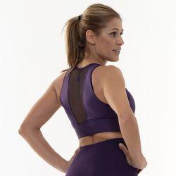 Crop Top Sport Back Transparency | Purple