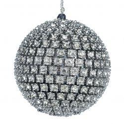 Weihnachtskugel Kunststoff 10 cm | Silber