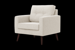 1 Seater Sofa Beaver | Cream
