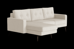 Corner Sofa Left Beaver | Cream