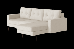 Corner Sofa Right Beaver | Cream