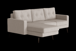 Ecksofa links Biber | Beige