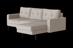 Corner Sofa Right Beaver | Beige