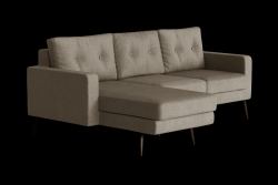 Ecksofa Links Biber | Taupe