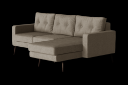 Corner Sofa Right Beaver | Taupe