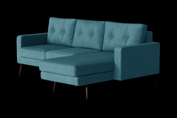 Corner Sofa Right Beaver | Turquoise