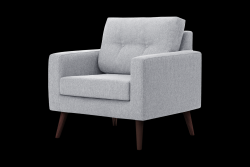 1 Seater Sofa Beaver | Light Grey