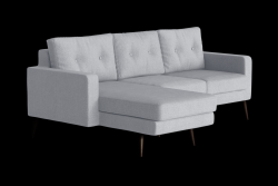 Corner Sofa Left Beaver | Light Grey