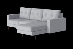 Corner Sofa Right Beaver | Light Grey