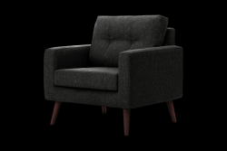1 Seater Sofa Beaver | Black