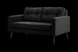 2 Seater Sofa Beaver | Black