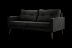 3 Seater Sofa Beaver | Black