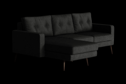 Corner Sofa Left Beaver | Black