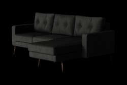 Corner Sofa Right Beaver | Black