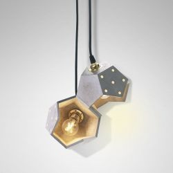 Ceiling Lamp Basic Twelve Duo | Concrete