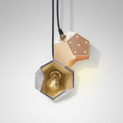 Ceiling Lamp Basic Twelve Duo | Concrete & Wood