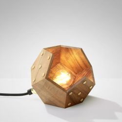 Table Lamp Basic Twelve Solo | Walnut