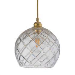Pendant Lamp Rowan Ø 22 | Large Check/Gold