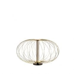 LED Table Lamp LA140OR | White & Brass