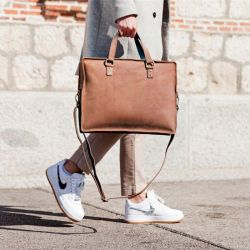 Laptop Bag Sevilla | Cognac & Night Blue