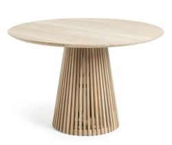 IRUNE Table Ø120 teak wood natural