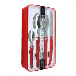 Set of Cutlery 16 pieces Evolution Sens | Red