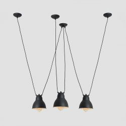 Pendant Lamp Adjustable Coben Hangman Fix 3 | Black
