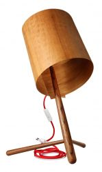 Houten lamp in Teak