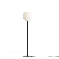 Lantern Floor Lamp Black Base | White