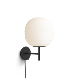 Lantern Wall Lamp Black Base | White