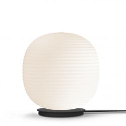 Lantern Globe Floor Lamp Black Base | White
