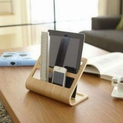 Tablet & Remote Rack Rin | Natural