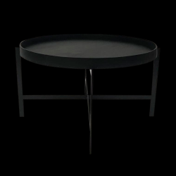 Table d'Appoint Deck Large | Noir